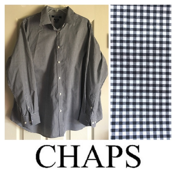 d0f65262b07 Chaps Tops - CHAPS women s 2X 2XG gingham plaid buttondown